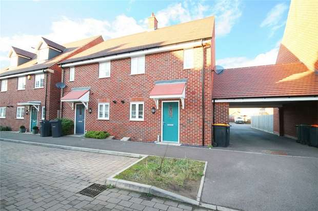 3 Bedrooms Semi Detached House for sale in Bittern Lane, Wixams, Bedford