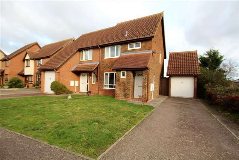 3 Bedrooms Semi Detached House for sale in Robin Close, Sandy, SG19