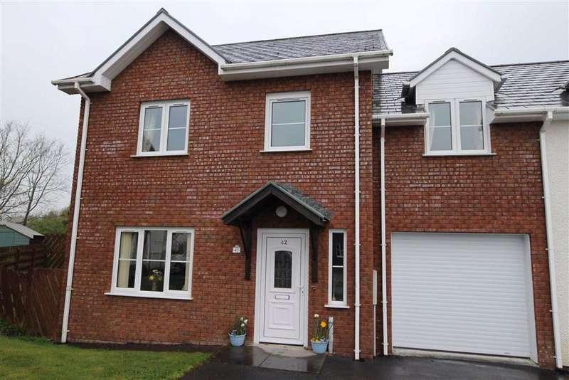 4 Bedrooms Semi Detached House for sale in Maes Crugiau, Rhydyfelin, Aberystwyth