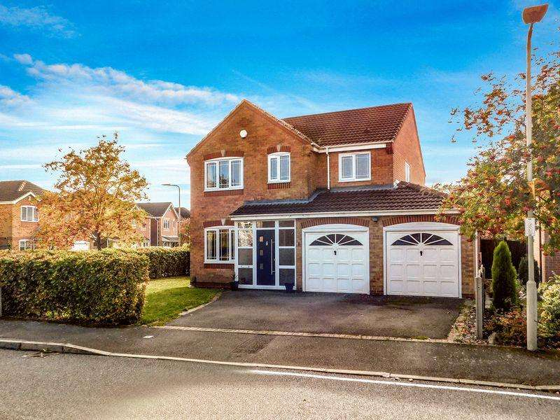 4 Bedrooms Detached House for sale in Juno Close, Glenfield