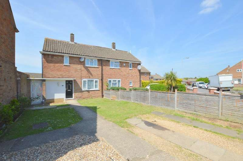 3 Bedrooms Semi Detached House for sale in Hollybush Road, Vauxhall Park, Luton, Bedfordshire, LU2 9HQ