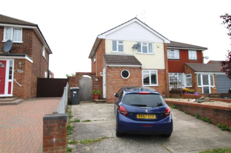 3 Bedrooms Semi Detached House for sale in Cotswold Way, Tilehurst, Reading