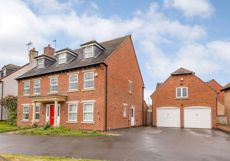 5 Bedrooms Detached House for sale in Martinshaw Close, Bradgate Heights, Leicester, Leicestershire, le3