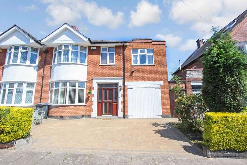 4 Bedrooms Semi Detached House for sale in Ashleigh Road, Leicester, LE3