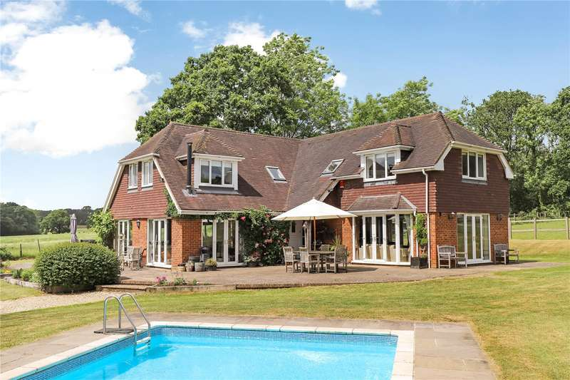 5 Bedrooms Detached House for sale in Casbrook Common, Braishfield, Romsey, Hampshire, SO51