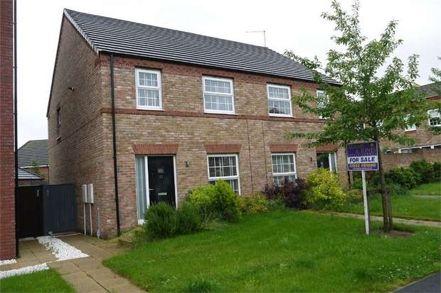 3 Bedrooms Semi Detached House for sale in Advent Walk, Market Harborough, Leicestershire