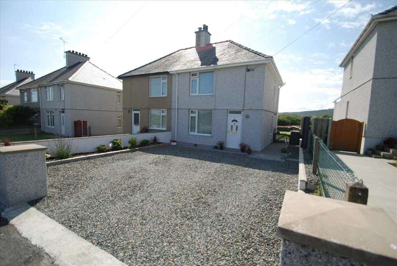 2 Bedrooms Semi Detached House for sale in Pentrefelin, Amlwch