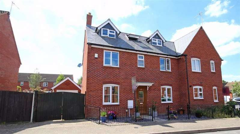4 Bedrooms Semi Detached House for sale in Second Crossing Road, Walton Cardiff, Tewkesbury, Gloucestershire