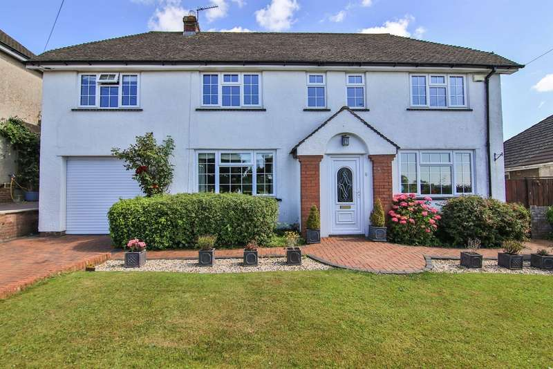 4 Bedrooms Detached House for sale in Llantrisant Road, Groesfaen, Pontyclun