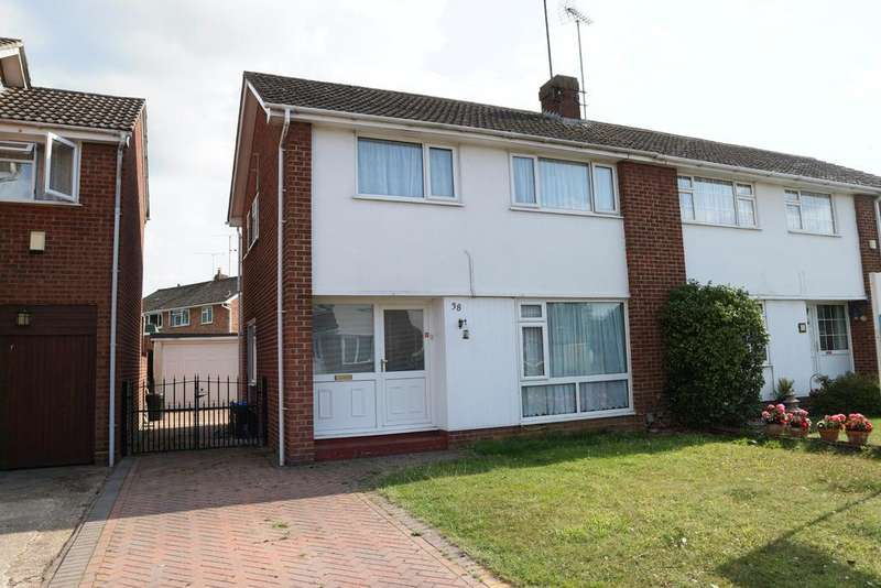 3 Bedrooms Semi Detached House for rent in Carrick Gardens, Woodley, Reading, RG5 3JD
