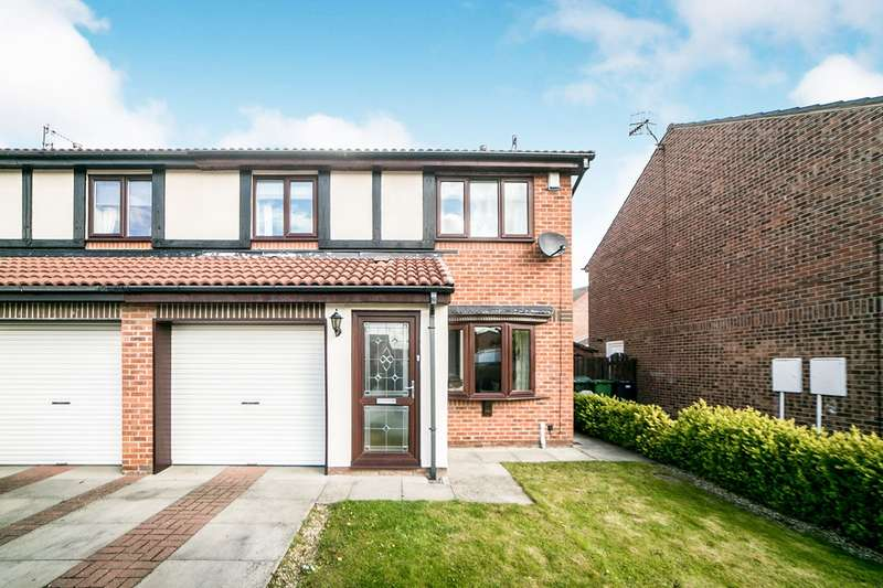 3 Bedrooms Semi Detached House for sale in Hedge Close, Festival Park, Gateshead, Tyne And Wear, NE11
