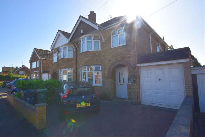3 Bedrooms Semi Detached House for sale in Harrowgate Drive, Birstall, Leicester, LE4