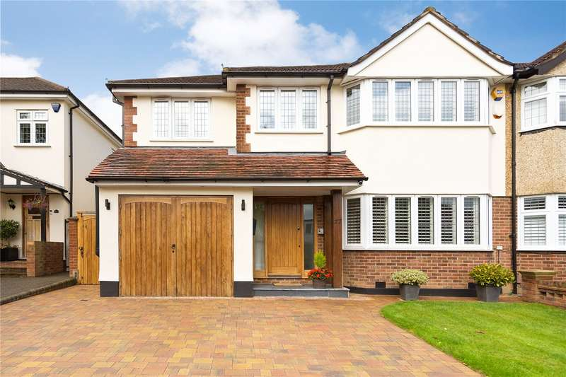 4 Bedrooms Semi Detached House for sale in Woodland Way, Theydon Bois, Epping, Essex, CM16