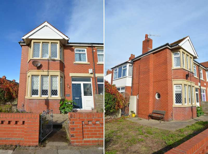 3 Bedrooms Semi Detached House for sale in Gildabrook Road, South Shore, Blackpool, FY4 2LU