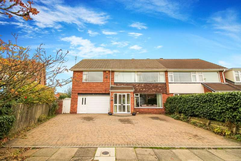 4 Bedrooms Semi Detached House for sale in Caynham Close, North Shields