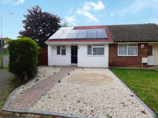 Semi Detached Bungalow for sale in Carroll Close, Newport Pagnell, MK16 8QH