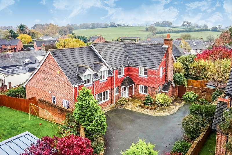 5 Bedrooms Detached House for sale in Onnen Gardens, Trefonen, Oswestry, Shropshire, SY10
