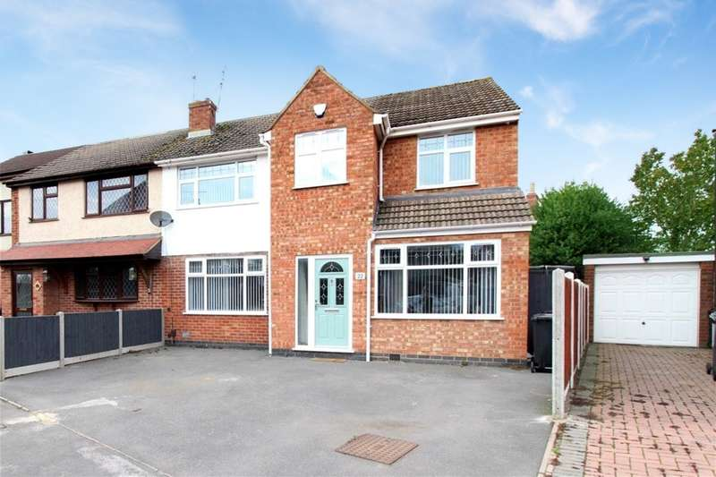 4 Bedrooms Semi Detached House for sale in Stafford Close, Bulkington, CV12