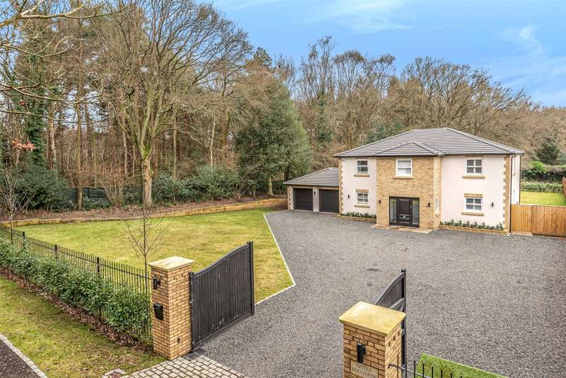 5 Bedrooms Detached House for sale in Stonehill Crescent, Ottershaw, Chertsey, Surrey, KT16