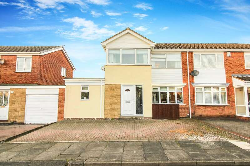 3 Bedrooms Semi Detached House for sale in Ascot Close, Wallsend
