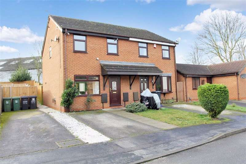 3 Bedrooms Semi Detached House for sale in Holbein Close, Loughborough, Leicestershire