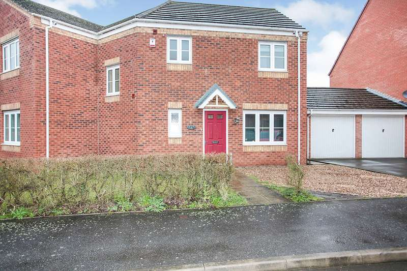 4 Bedrooms Semi Detached House for sale in Carnation Way, Nuneaton, Warwickshire, CV10