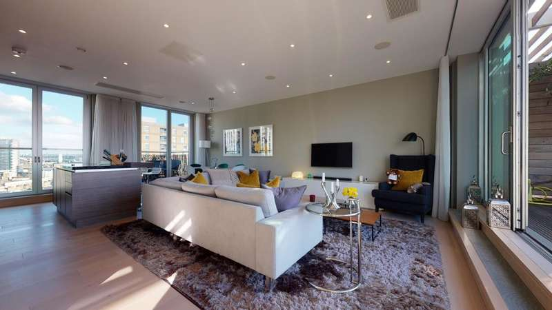 3 Bedrooms Apartment Flat for sale in Penthouse, Baltimore Wharf, London, E14.