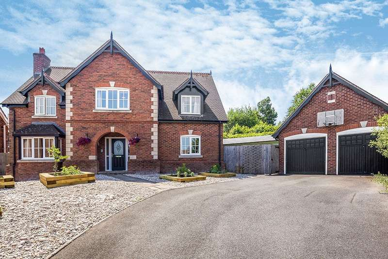 5 Bedrooms Detached House for sale in Carneddau Close, Trefonen, Oswestry, Shropshire, SY10