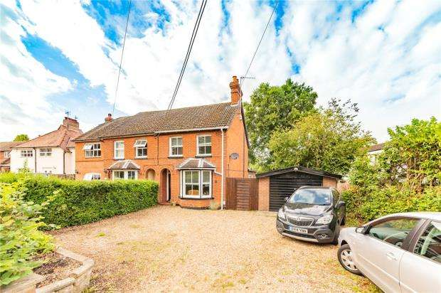 3 Bedrooms Semi Detached House for sale in Sandy Lane, Church Crookham, Fleet
