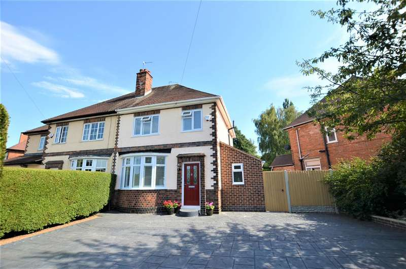 3 Bedrooms Semi Detached House for sale in Glenwood Road, Chellaston, Derby