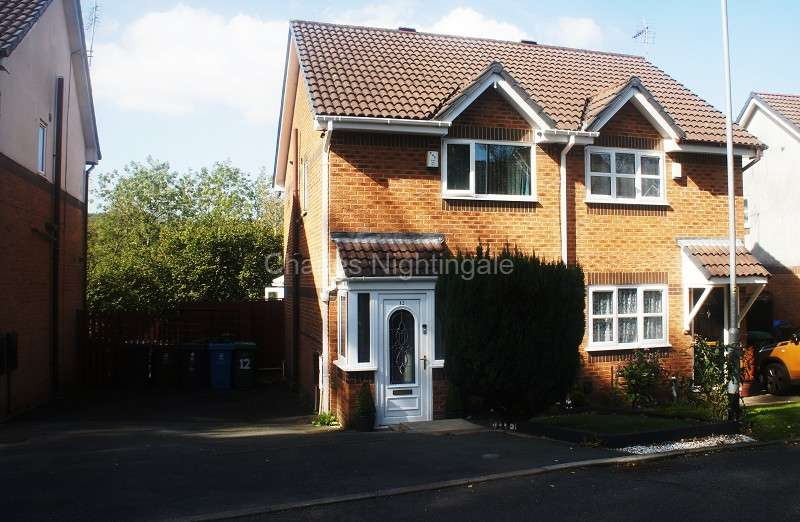 2 Bedrooms Semi Detached House for sale in Chaffinch Close, Oldham, Greater Manchester. OL4 5PD