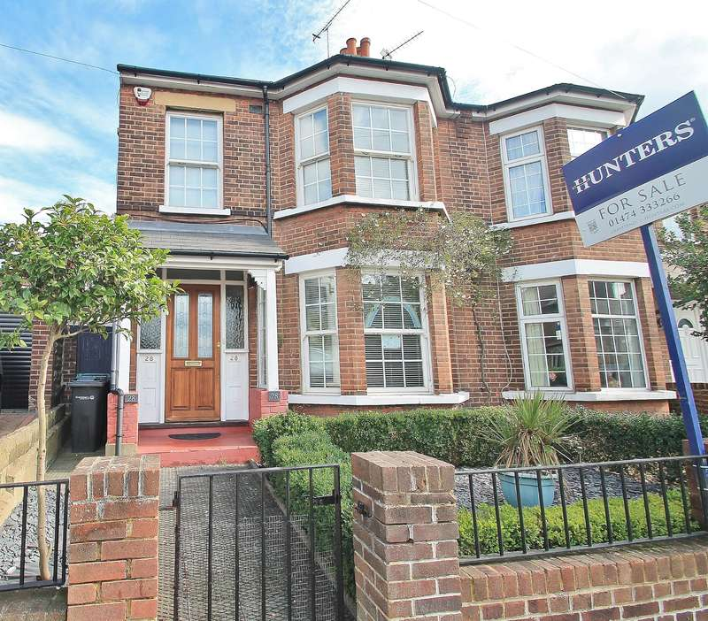 4 Bedrooms Semi Detached House for sale in Singlewell Road, Gravesend, DA11 7PW