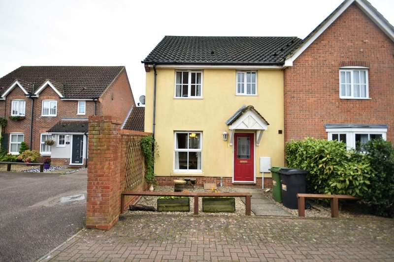 3 Bedrooms Semi Detached House for sale in Blackthorn Road, Wymondham, NR18