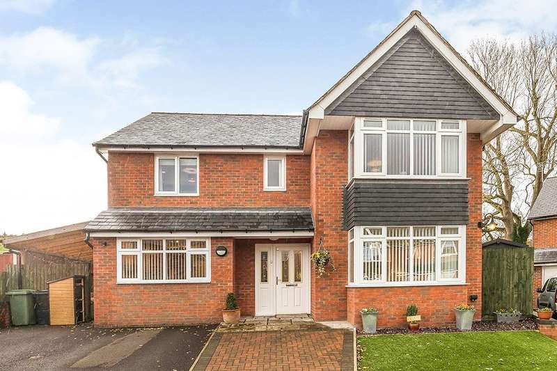 4 Bedrooms Detached House for sale in Bryn Y Castell Gardens, St. Martins Road, Gobowen, Oswestry, SY10