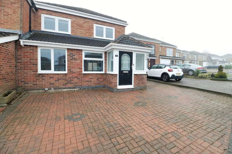 4 Bedrooms Semi Detached House for sale in Malvern Crescent, Ashby-de-la-Zouch