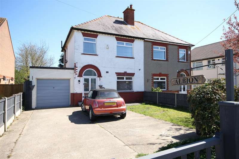 3 Bedrooms Semi Detached House for sale in Station Road, Sutton-On-Sea