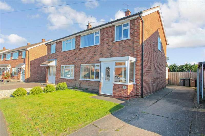 3 Bedrooms Semi Detached House for sale in Monsal Dale, North Hykeham, Lincoln