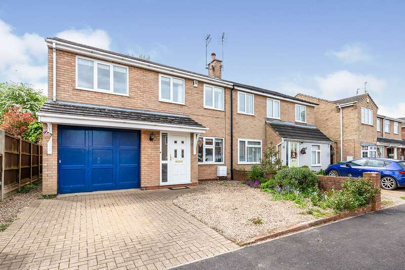 3 Bedrooms Semi Detached House for sale in Kirby Close, Sapcote, Leicester, Leicestershire, LE9