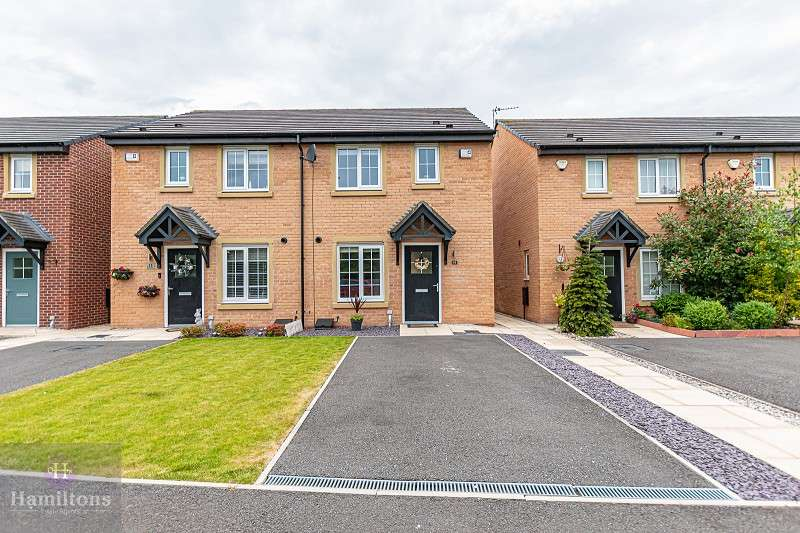 3 Bedrooms Semi Detached House for sale in Baines Close, Leigh, Greater Manchester. WN7 4BP