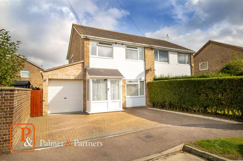 3 Bedrooms Semi Detached House for sale in Herrings Way, Fordham, Colchester CO6