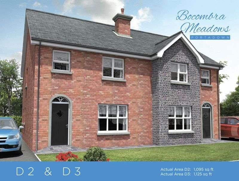 3 Bedrooms Semi Detached House for sale in Site 72 Bocombra Meadows, Portadown