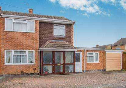 3 Bedrooms Semi Detached House for sale in Penzance Avenue, Little Hill, Wigston, Leicestershire