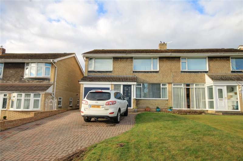 3 Bedrooms Semi Detached House for sale in Foxhills Crescent, Lanchester, County Durham, DH7