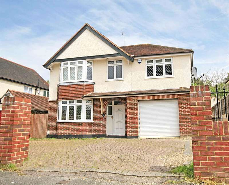 4 Bedrooms Detached House for sale in Pinewood Avenue, New Haw, Addlestone, Surrey, KT15