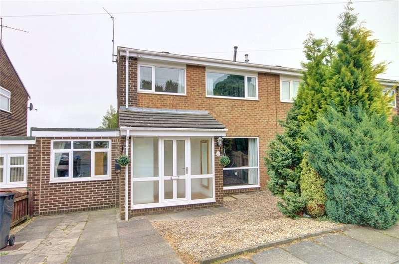 3 Bedrooms Semi Detached House for sale in Brancepeth Close, Newton Hall, Durham, DH1