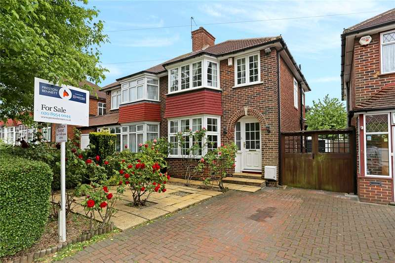 3 Bedrooms Semi Detached House for sale in Girton Avenue, London, NW9
