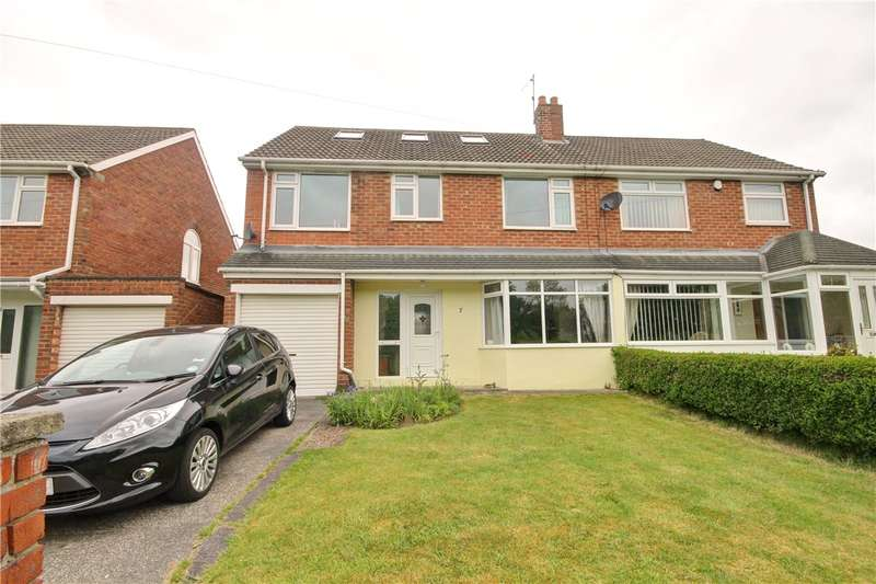 4 Bedrooms Semi Detached House for sale in Merlin Drive, Chester Le Street, Co Durham, DH3