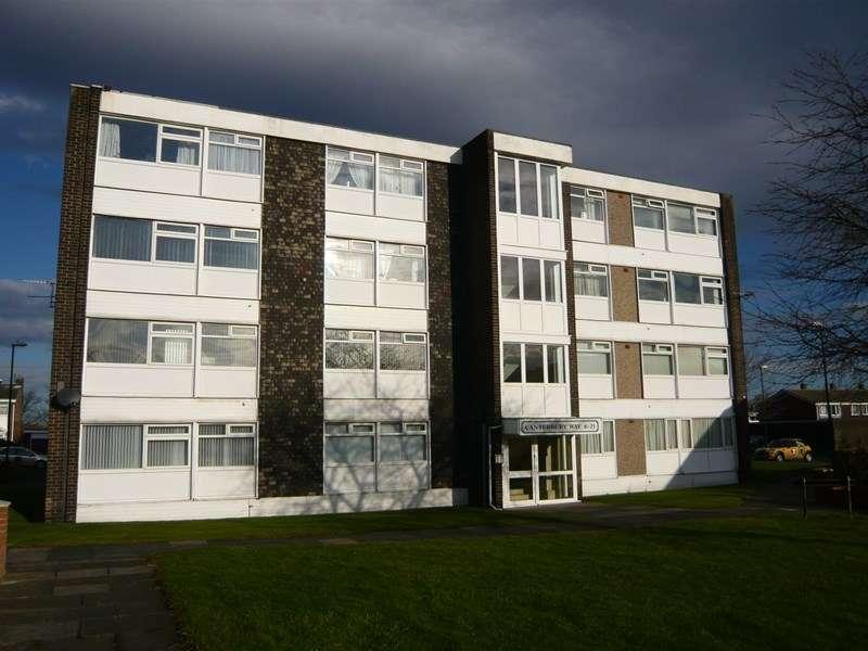 2 Bedrooms Flat for sale in Canterbury Way, Fellgate Estate, Jarrow