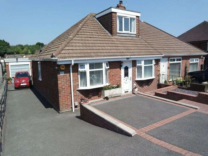3 Bedrooms Semi Detached Bungalow for sale in Coupe Drive, Weston Coyney, Stoke-On-Trent, ST3 5HR