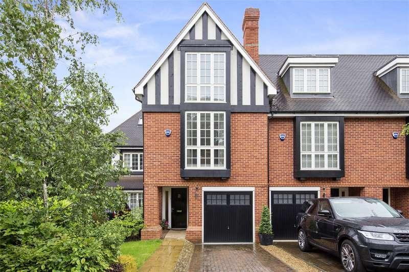 4 Bedrooms Terraced House for sale in Admiral Close, Weybridge, Surrey, KT13